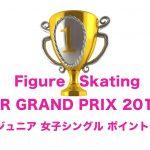 本田まりん│スケートJrグランプリ女子【ポイント表】日本語
